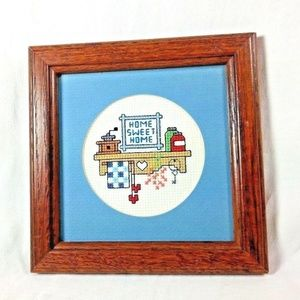 Other - Home Sweet Home Cross Stitch Home Decor